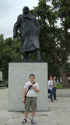 Me and Churchill, we hang.